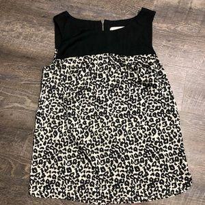 Ann Taylor Loft cheetah print top